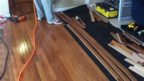 Install Prefinished Hardwood Flooring Youtube