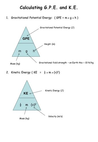 gpe and ke energy transfers by dsg101 teaching resources
