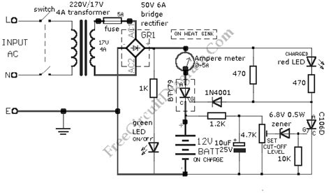 Car Battery Charger Circuit Diagram World