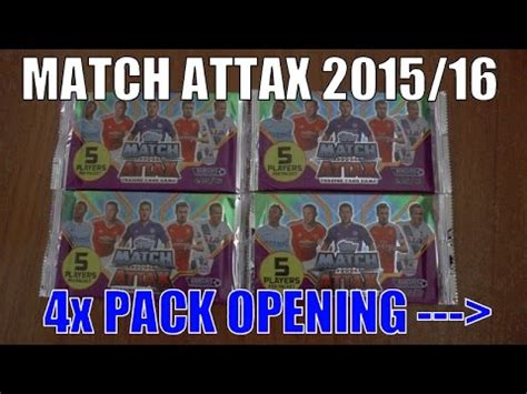 4x trading 4x promo packs topps match attax premier league 2015