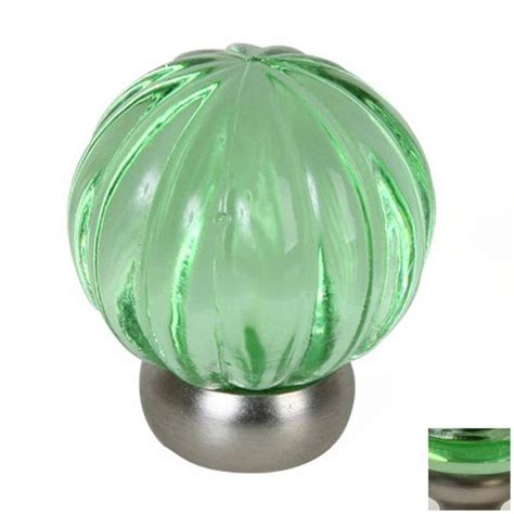 lews hardware melon glass transparent greenbrushed nickel cabinet knob  lowescom