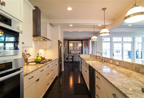ideas for kitchen floor galley kitchen with island floor plans cool galley 4401