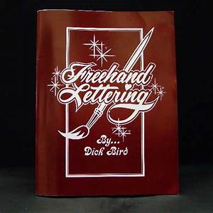 freehand lettering sign painting book With sign lettering supplies