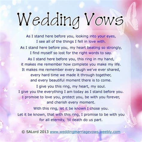 wedding vow renewal ideas wedding vows sle marriage vow exles wedding marriage vows