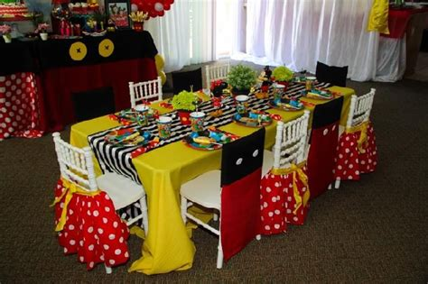 mickey mouse clubhouse table cover mickey minnie theme custom chair cover dessert table