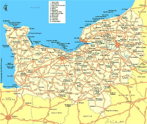 Carte De Plage Normandie by Carte Normandie Plan Normandie Routard