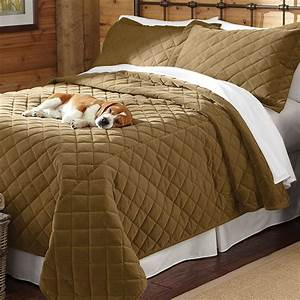 Dog proof bedding quilted coverlet and shams orvis for Dog resistant bedding