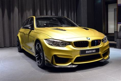 bmw m3 modified custom austin yellow bmw m3 delivered in abu dhabi