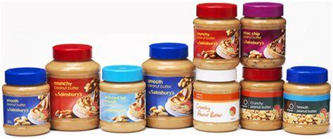 plastic peanut butter jars cut packaging  sainsburys