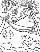 Beach Coloring Pages Fun sketch template