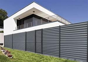 Aluminium Zaun Modern : aluminium sichtschutzelement aluclin zaun mit ~ Articles-book.com Haus und Dekorationen