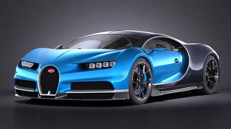 Bugatti New Models by 3d Model Of Bugatti Chiron 2017