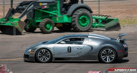 Bugatti Veyron Fender Bender On The Race Track