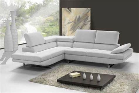 canapé d angle habitat photos canapé d 39 angle cuir blanc design