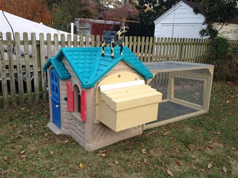 chicken coop ideas cheap turn an playhouse into a chicken coop diy projects