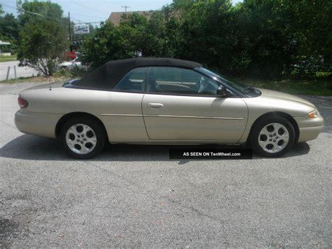 2000 Chrysler Sebring Jxi by 2000 Chrysler Sebring Jxi Convertible 2 Door 2 5l
