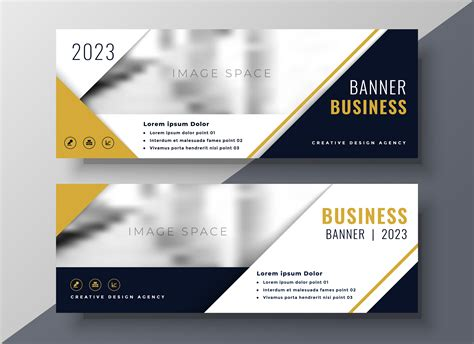corporate business banner design template   vector art stock graphics images