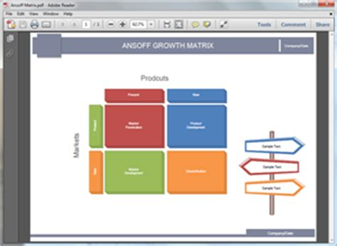 ansoff matrix templates  word powerpoint
