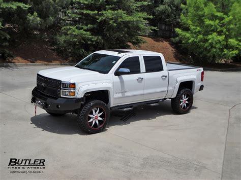 lifted  silverado  fuel wheels  butler tire rides magazine
