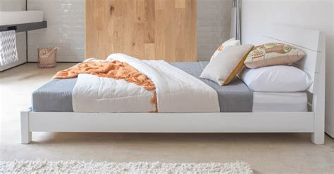 White Low Bed Frame by Low Kensington Bed Get Laid Beds