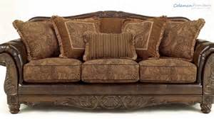 Fresco Antique Sofa by Fresco Durablend Antique Living Room Collection From
