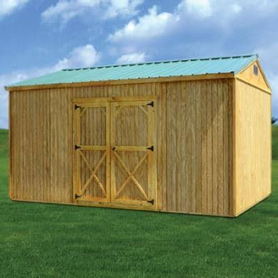 Comfortable living can be found in this barn roof style cabin. Treated Side Utility | Side lofted barn cabin