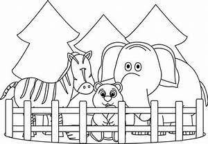 Zoo Entrance Black And White Clipart