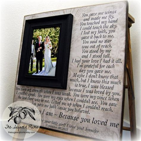 wedding gifts  parents parent wedding gift personalized