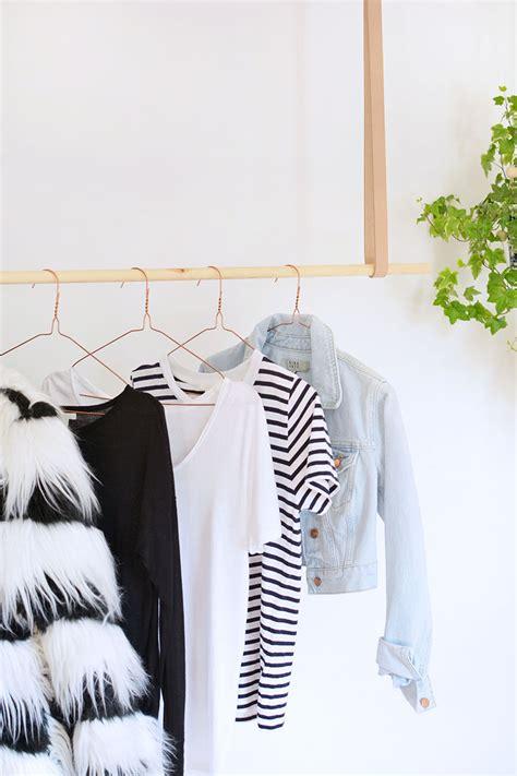 hanging clothes rack diy hanging clothes rail burkatron