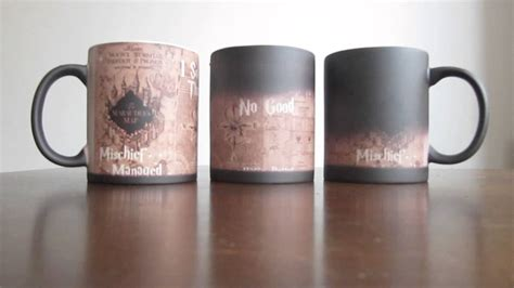 color changing mug harry potter inspired marauders map morphing mug color