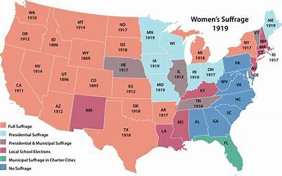 Suffrage Map Rights Voting States United Vote