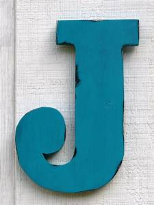 rustic wooden letter j distressed painted island With wooden letter j