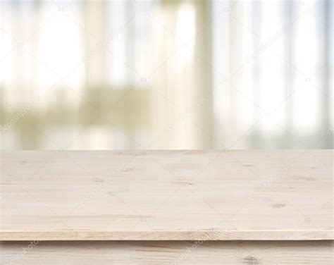 html table background image wooden table on defocuced window with curtain background