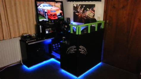 Homemade Racing Simulator Cockpit With Logitech G27