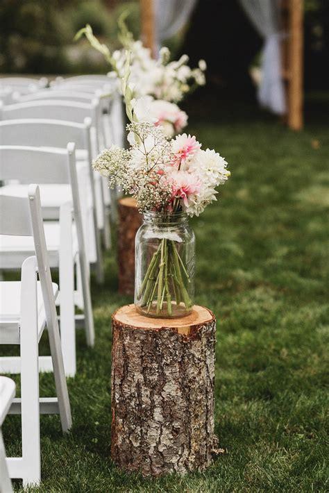 country vintage wedding wedding wedding aisle outdoor