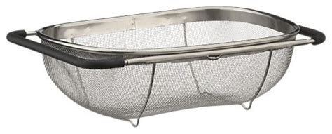 over the sink colander modern colanders and strainers