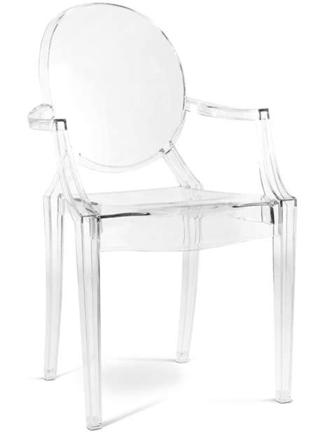 fauteuil polycarbonate blanc transparent elisabeth
