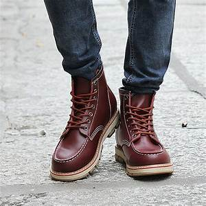 Autumn New Designer Boots Men Leisure Lace up Tall Boots ...