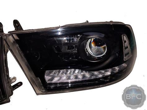 dodge ram  black hid projector oem headlight