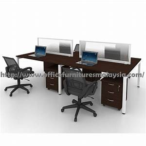 5ft modern office partition workstation 4 table set sepang With d home furniture malaysia