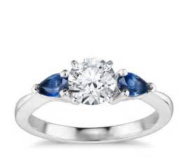 sapphire engagement ring classic pear shaped sapphire engagement ring in 18k white gold blue nile