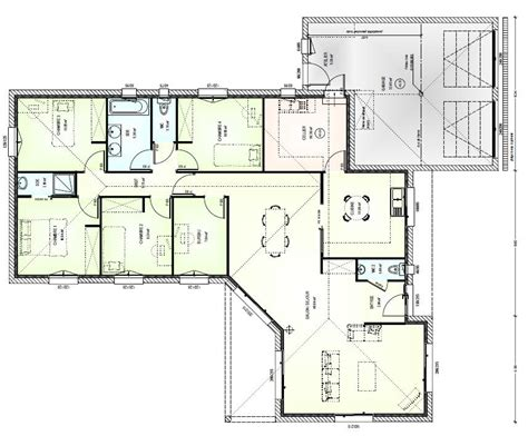maison moderne plain pied 4 chambres plans d une maison du0027une maison 35 plan d une maison