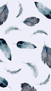 black, feathers, iphone, wallpaper, white - image #4489531 ...