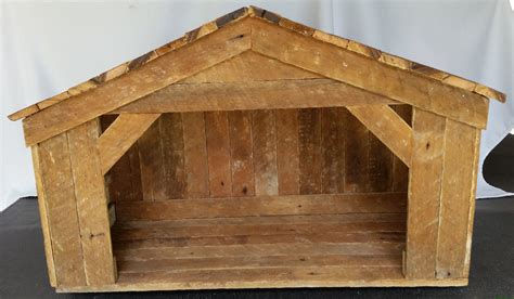 wooden outside nativity set large handmade nativity stable reclaimed wood nativity set