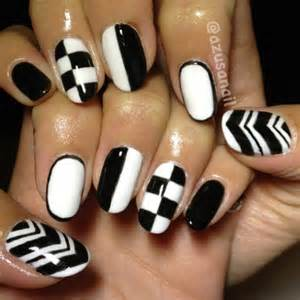 Black and white nails for beginners pretty designs