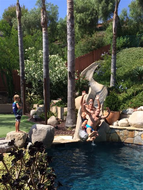 Backyard Water Slide Party  Outdoor Furniture Design And