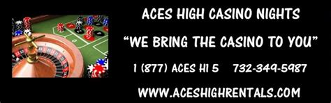 Aces High Casino Rentals  The Magic Of Las Vegas Comes To You