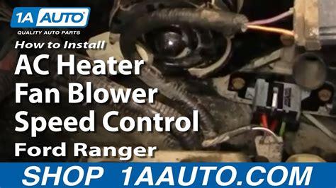 replace blower motor resistor   ford ranger