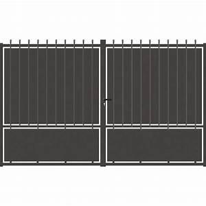 Vial Portillon Fer : portail 1 battant portail ~ Premium-room.com Idées de Décoration