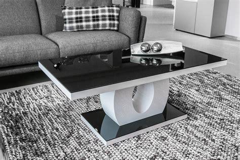 Table Basse Blanc Et Noir Table Basse En S Trendsetter